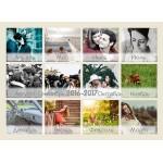 Календар А4, настінний, 48 фото, 12 сторінок